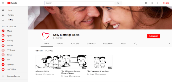 Sexy Marriage Radio on YouTube